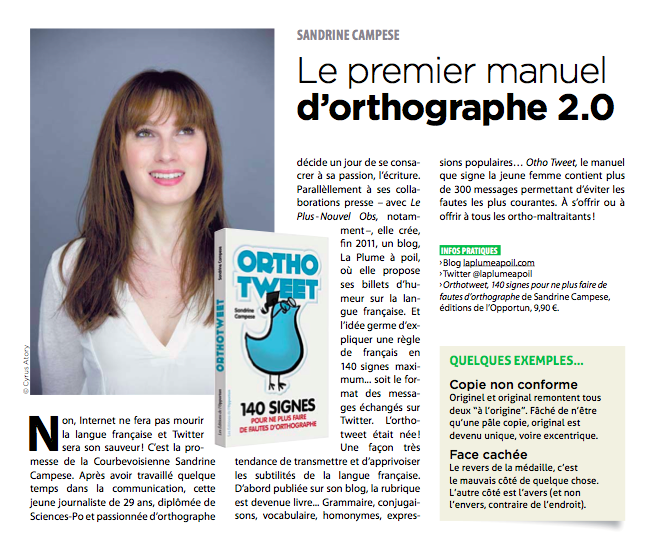 Sandrine Campese Orthotweet Courbevoie Mag Octobre 2013