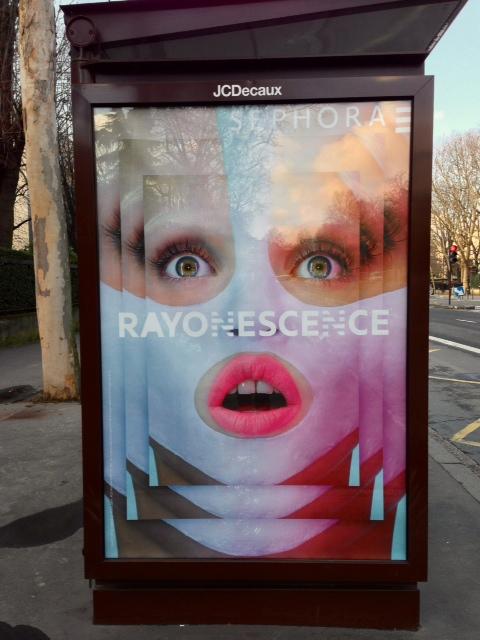 affiche pub sephora rayonescence
