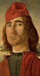 Inconnu au beret rouge Vittore Carpaccio
