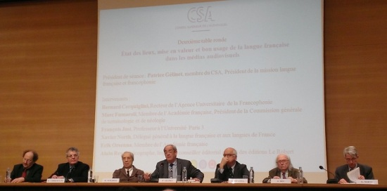 colloque CSA langue francaise 9 decembre 2013