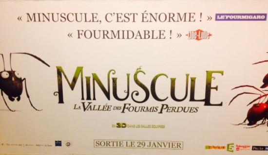 affiche film minuscule metro paris