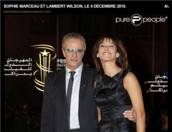 Sophie Marceau et Lambert Wilson