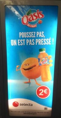 Affiche pub Oasis on est pas presse 2014